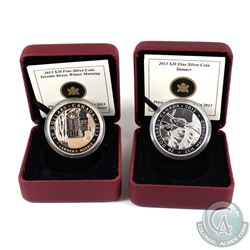 2013 Canada $20 Group of Seven - J.E.H. Macdonald & Lawren S. Harris Fine Silver Coins Encapsulated