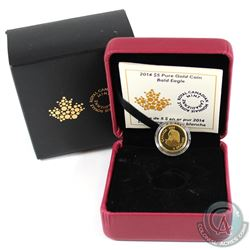 2014 Canada $5 Bald Eagle Pure 1/10oz Gold Coin (Tax Exempt)