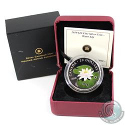 2010 Canada $20 Swarovski Crystal - Crystal Water Lily (capsule is scuffed and some marks on outer s