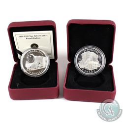 2008 Canada $20 Royal Hudson Locomotive & 2009 $20 Coal Mining Trade Fine Silver Coins. The coins co