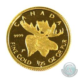 2004 Canada 50-cent Moose 1/25oz .9999 Fine Gold Coin. Comes loose in bag (coin is scratched). Tax E