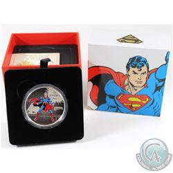 2016 Canada $20 DC Comics Originals - The Man of Steel Fine Silver Coin (outer box lid has a light b