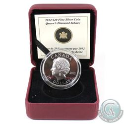 2012 Canada $20 Queen's Diamond Jubilee - Portrait in Ultra High Relief Encapsulated in RCM Display