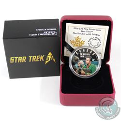 2016 Canada $20 Star Trek - The Trouble with Tribbles Fine Silver Coin (Tax Exempt)