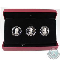 2011 Canada $15 Continuity of the Crown Sterling Silver 3-Coin Set (Prince Harry capsule has a small