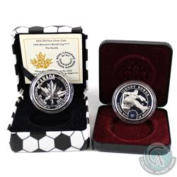 2015 Canada $10 FIFA Women's World Cup - The Goalie & 2015 $10 Johnny Bower NHL Goalie Fine Silver C