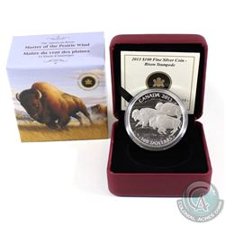 2013 Canada $100 Bison Stampede ($100 for $100) Fine Silver Coin (Tax Exempt)