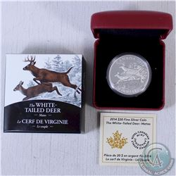 2014 Canada $20 1oz The White-Tailed Deer: Mates .9999 Fine Silver Coin (TAX Exempt).