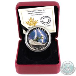 2015 Canada $20 Weather Phenomenon - Summer Storm Fine Silver Coin (missing outer sleeve & display b