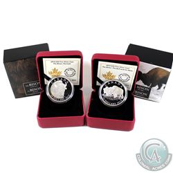 2014 Canada $20 The Bison - The Portrait & The Fight Fine Silver Coins (TAX Exempt). 2pcs.
