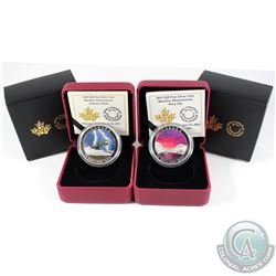 2015 weather Phenomenon Summer Storm & 2017 Fiery Sky $20 Fine Silver coins (Tax Exempt) 2pcs