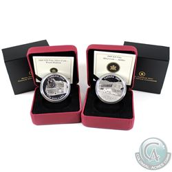 2008 Royal Hudson & 2009 Jubilee $20 Fine Silver coins (Tax Exempt). 2pcs