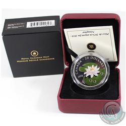 2010 Canada $20 Swarovski Crystal Series - Crystal Water Lily Fine Silver Coin (TAX Exempt). Outer b