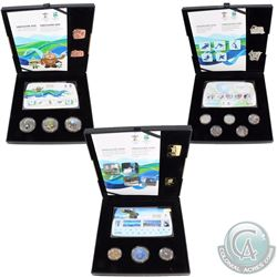 2010 Canada Vancouver Olympics Gold, Silver & Bronze Collector's Set issued by the Royal Canadian Mi