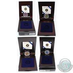 2011-2012 Full Moons of the Algonquin Series $15 Sterling Silver and Niobium coins. This lot include