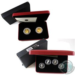 RCM Lot: 2004 Canada 4-coin 50-cent Sterling Silver Effigy Set & 2005 $8 Fine Silver Two-Coin Set -