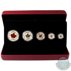 RCM Issue 2015 Fine Silver Fractional Maple Leaf Set (Tax Exempt). Some coin are toned and there is