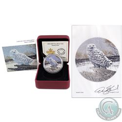 Signed 2016 $20 Snowy Owl Fine Silver coin (TAX Exempt). Coin come with an external informational di
