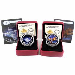 2015 Canada $25 Star Charts - Eternal Pursuit & The Great Ascent Fine Silver Coins. Capsules contain