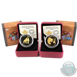 2014 Canada $20 Seven Sacred Teachings Wisdom & Humanity Fine Silver coins. Capsules contain light s