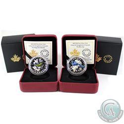 2015 Canada $10 Colourful Songbirds of Canada Fine Silver coins: 2015 The Blue Jay & 2015 Magnolia W