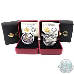 2015 Holiday Reindeer & 2015 Winter Freeze $20 Fine Silver Coins (Tax Exempt). 2pcs