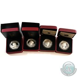 2008-2009 $15 Vignette of Royalty Series coins: 2008 King Edward VII, 2008 Queen Victoria, 2009 King