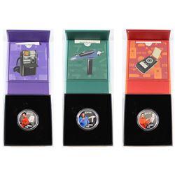 2016 Canada $10 Star Trek Fine Silver Coins. You will receive Scotty, Uhura & Spock. 3pcs (TAX Exemp