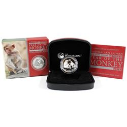 Perth Mint Issue: 2016 Australia $1 Year of the Monkey High Relief Silver (Tax Exempt).