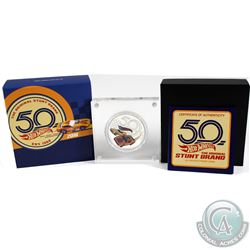 Perth Mint Issue: 2018 Tuvalu $1 50th Anniversary of Hot Wheels 1oz Fine Silver Proof Coin (capsule