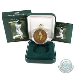 Royal Australian Mint Issue: 1996 Australia $5 A Special Tribute to Sir Donald Bradman Cricket Playe