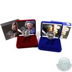 Royal Mint Issue: 1900-2002 Queen Mother 5 Pound Silver Proof Memorial Crown & 1952-2002 The Queen's