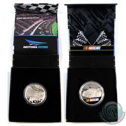 2016 Canada 1oz. NASCAR Fine Silver Coloured Medallion (toned on back of coin) & 2016 NASCAR - Dayto