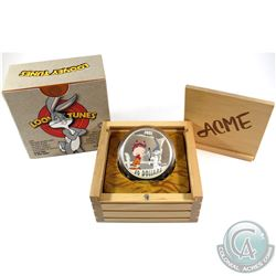 2015 Canada $30 Looney Tunes - The Rabbit of Seville 2oz. Fine Silver Coin (coin lightly toned). Tax