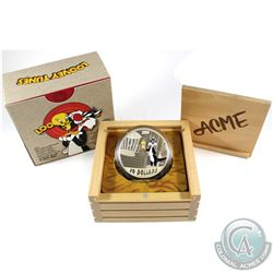 2015 Canada $30 Looney Tunes - Birds Anonymous 2oz. Fine Silver Coin (coin lightly toned & capsule l