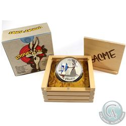 2015 Canada $30 Looney Tunes - Fast and Furryous 2oz. Fine Silver Coin (coin lightly toned). Tax Exe