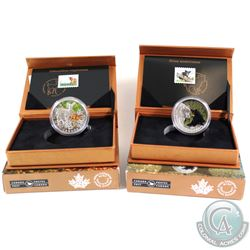 2015 Canada $20 The Black Bear & 2015 $20 The Deer Fawn Baby Animals Fine Silver Coin and Stamp Sets