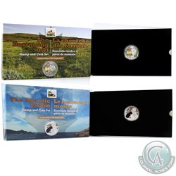2014 Canada $20 The Atlantic Puffin & 2015 $20 The Burrowing Owl Baby Animals Fine Silver Coin and S