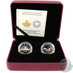 2017 Canada $1 30th Anniversary of the Loonie Fine Silver 2-coin Set Encapsulated in Red RCM Display