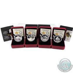 4x 2015 Canada $20 North American Sportfish Fine Silver Coins - Walleye, Rainbow Trout, Northern Pik