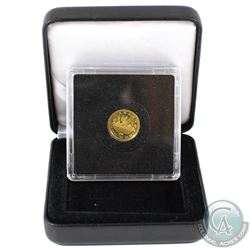 2005 Canada 50-cent Voyageur 1/25oz. Pure Gold Coin in Square Capsule and Black Display Box (Tax Exe