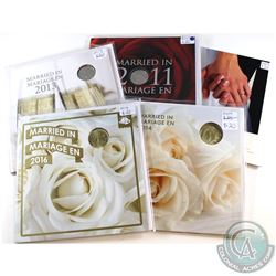 2005-2016 Canada Wedding Commemorative Decimal Gift Sets. You will receive 2005, 2011, 2013, 2014 &