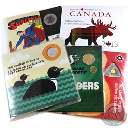 2009-2013 Canada 1-coin Commemorative Gift Sets. You will receive 2009 25-cent Six String Nation, 20