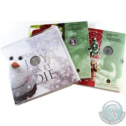 2007-2011 Canada Holiday Commemorative Gift Sets. You will receive 2007, 2008 & 2011. 3pcs