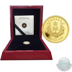2012 Canada $5 The Queen's Diamond Jubilee Royal Cypher 1/10oz Pure Gold Coin (Tax Exempt)