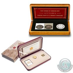2001 Canada 3-Cent First Postage Stamp Anniversary & 2008 Royal Canadian Mint 100th Anniversary Coin