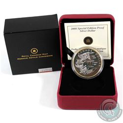 2008 Canada $1 Royal Canadian Mint Centennial Special Edition Proof Sterling Silver Dollar (capsule