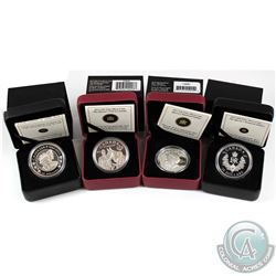 4x 2012 Canada $20 Diamond Jubilee Fine Silver Coins - Royal Cypher, The Queen in Canada with the RC