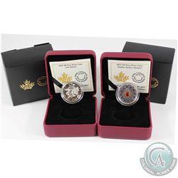 2017 Canada $8 Lion Dance & 2017 $3 Zodiac Series - Gemini Fine Silver Coins. 2pcs (TAX Exempt)