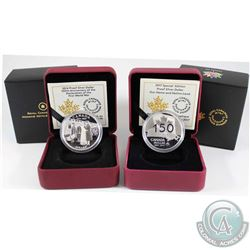 2014 Canada 100th Anniversary Of WWI & 2017 Our Home & Native Land Special Edition Proof Fine Silver